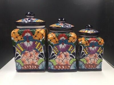 Mexican Talavera Canister Set ~FREE SHIPPING~