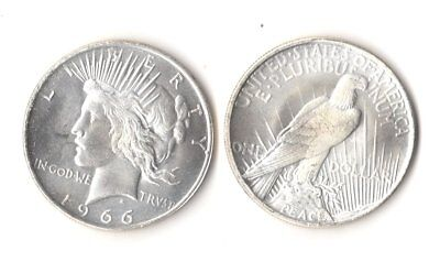 1966 P Peace Dollar Silver Plated Novelty Fantasy Issue Coin AU