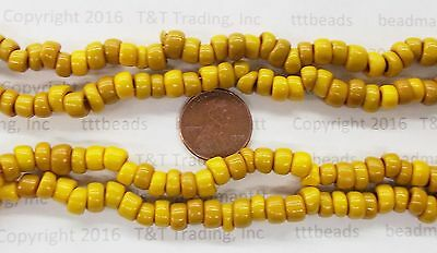 100 Beads   Acorn Squash Small Crow Venetian Trade Bead  Antique    #210