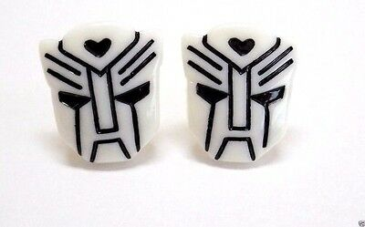 Handmade, Transformer Decepticon Resin Cufflinks, Silver Plated, Gift Boxed!