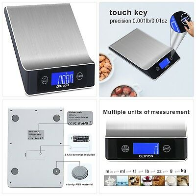 Food Scale Geryon Kitchen Cooking Scale Multifunction Electric Food Weighing