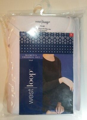 West Loop Women's Two Piece Thermal Underwear Set Your Choice Black OR White NEW