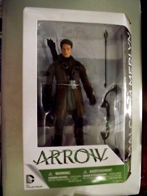 """DC Collectibles CW's Arrow TV Series MALCOLM MERLYN 7"""" Action Figure NEW"""