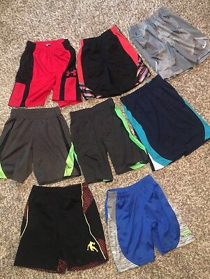 NIKE UNDER ARMOUR CHAMPION~BOYS 5/6 Lot of 8 BASKETBALL FITNESS SHORTS