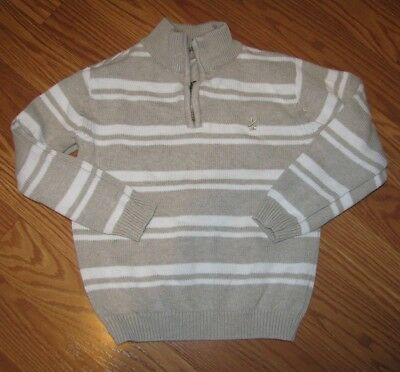 Boys Izod Half Zip Stripe Sweater L 7