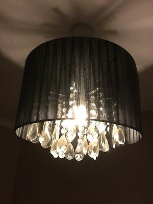 Replacement shades for next blake drop cluster ceiling lights next black chandelier lampshade light mozeypictures Choice Image