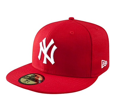 New Era NEW YORK YANKEES NY 5950 Red White Cap MLB Baseball Fitted Hat