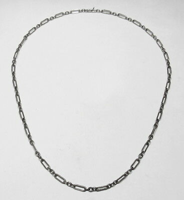 "Vintage 1960s Native American Handmade 925 Sterling Silver 20.5"" Chain Necklace"