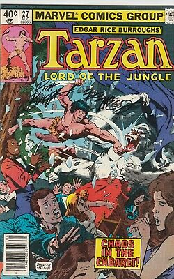 TARZAN LORD OF THE JUNGLE #27FINE- SIGNED BY RICH BUCKLER/BOB McLOED AUGUST 1979