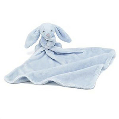 Jellycat Bunny Soother Baby Toy Comforter Security Blanket Jelly Cat Safe Blue