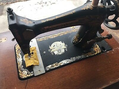 Singer Sewing Machine Antique Treadle with Cabinet