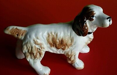 Vintage English Setter Dog Figurine Porcelain Made In Japan