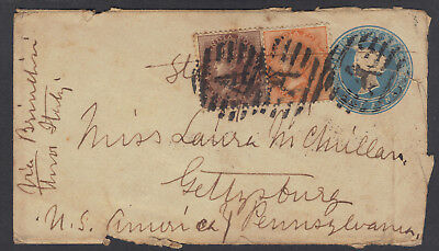 Almora, British India thru Bombay, Suez Canal, Brindisi, Italy, to USA Feb 1870s