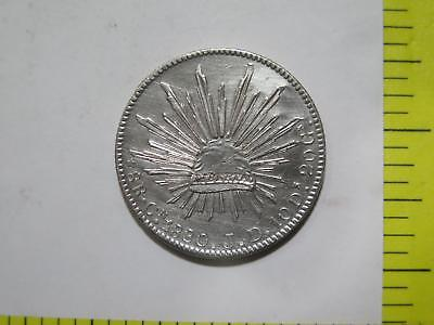 Mexico 1880 Cn Jd 8 Reales Cap Rays Silver Culiacan World Coin Collection Lot Y