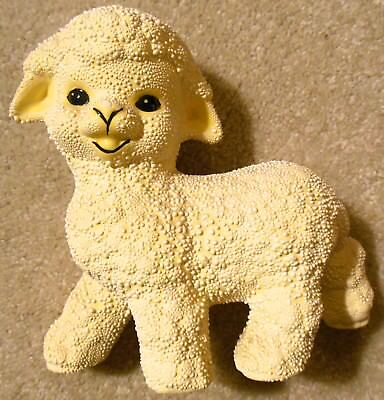 Vintage Easter - Adorable BABY LAMB Ceramic Sheep Figurine With Textured Finish