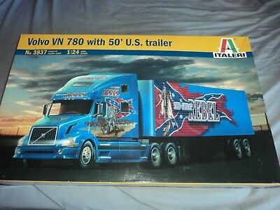 Italeri Volvo Vn-780 With 50' Us Trailer( New Factory Sealed)