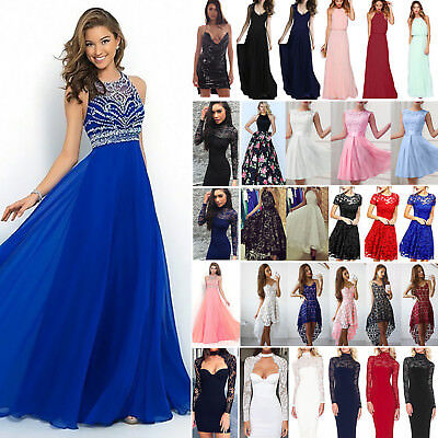 Womens Formal Dress Wedding Evening Ball Gown Party Cocktail Prom Bridesmaid