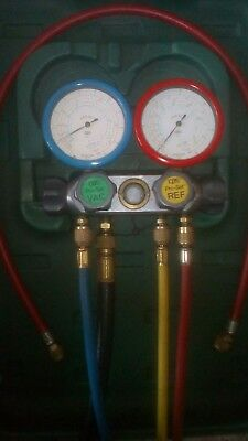 CPS Pro 4 way Refrigeration manifold/gauge set with hoses