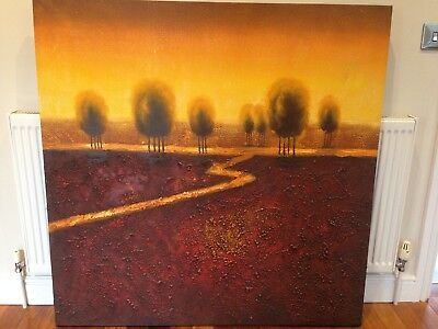 STUNNING TEXTURED OIL PAINTING, AUTUMNAL COLOURS  (Large)