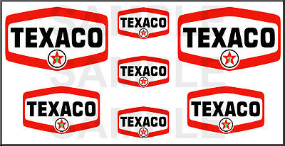 1 1/2 3/4 Inch Texaco Gas Truck Tanker Model Building Sign Decals Stickers T6S