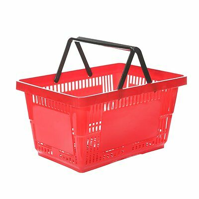 10x Red Supermarket Grocery Shopping Basket DIY Retail Shopping Basket
