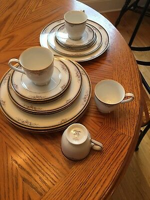 20 pieces Noritake Ontario #3763 5 Piece Place Setting~Mint Condition~ 4 sets
