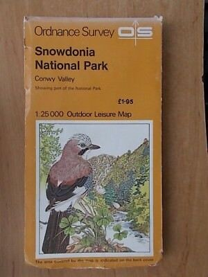 1977 Ordnance Survey Outdoor Leisure Map Snowdonia National Park Conwy Valley  2