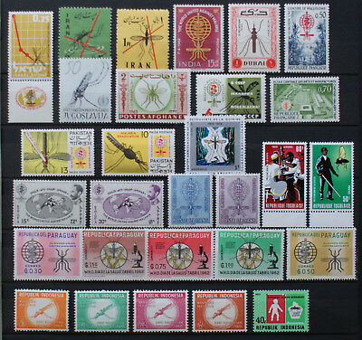 Insekten Insects Insectes 29 x Malaria ** MNH