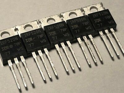 5pcs IRF520N 100V 9.2A Fast Switching MOSFET Transistor TO-220