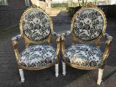 Antique Pair (2) Of French Louis Xvi Chairs