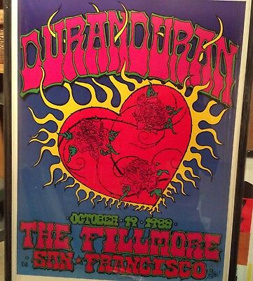 Duran Duran Live At The Fillmore Poster. Limited to 100. Signed & hand numbered