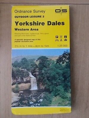 1989 ORDNANCE SURVEY OUTDOOR LEISURE MAP No 2 YORKSHIRE DALES WESTERN AREA