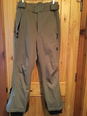 Descente tan polyester no wrinkle Pants Men's size 32 Insulated EUC Padded