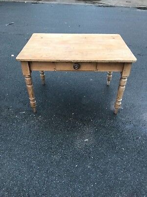 Antique Victorian Pine Country Kitchen Table Good Size Single  draw  Good Order