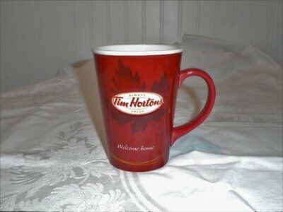 Tim Horton's Limited Edition Coffee Mug Cup 2011 # 011 Red Brown Maple Leaf Exc