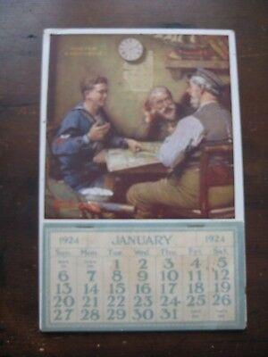 Vintage 1924 Home From A Navy Cruise Norman Rockwell Calendar Complete Ad