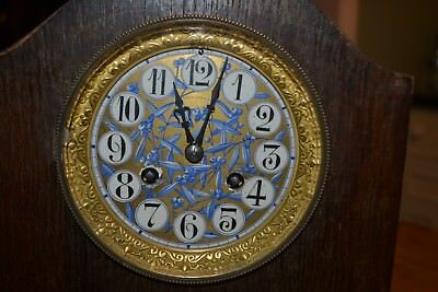 8 day french clock with unusual dial