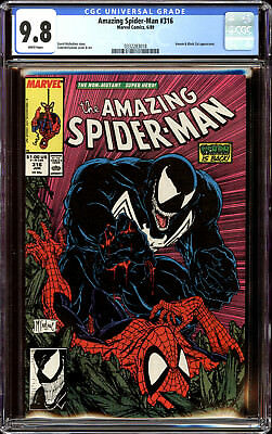 Amazing Spider-Man 316 CGC 9.8 NM/MT Venom Battle Cover