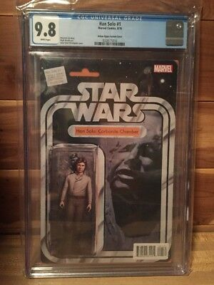 Han Solo #1 CGC 9.8 Action Figure Variant Cover Han in Carbonite Star Wars