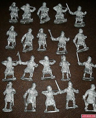 Bretonnian Men At Arms, War of the Roses Medieval, Metal (20 models) - Warhammer