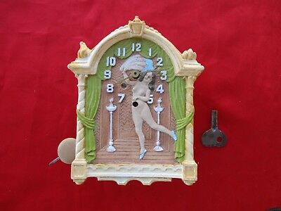 Vintage LUX Sally Rand Animated Fan Dancer Pendulette Clock 1933 World's Fair (1