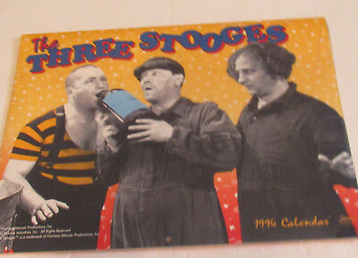 Vintage 1994 The Three Stooges Full Size Calendar Sealed