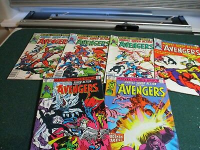 Marvel Super Action Lot of 6  Avengers #14,#16,#19,#20,#22,#26 Med Grade