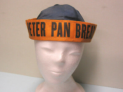 Vintage Peter Pan Bread Peanut Butter Advertising Catering CLOTH Hat