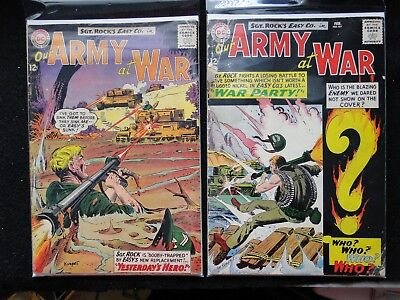 OUR ARMY AT WAR LOT of 2 #151 & 133 - First ENEMY ACE Kubert Sgt. Rock 1965 DC