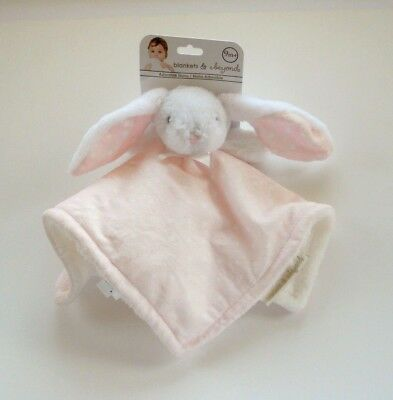 Blankets & and Beyond White Bunny Pink White Dot Security Blanket Lovey Nunu NWT