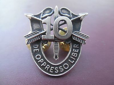 10th Special Forces Crest DI # Pin Uniform US Army SF Airborne SFG Insignia OK90