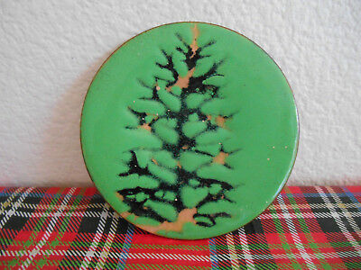Enamel On Copper  - Signed Tann/tamm Brown  - Trinket Dish