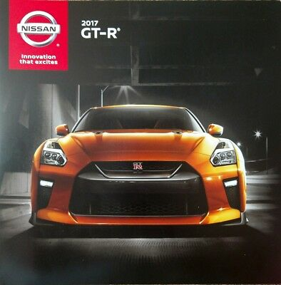2017 Nissan Gt-R Sales Brochure Mint! 16 Pages