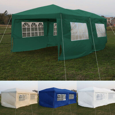 Extra Large Garden Gazebo Party Garage Tent Marquee Canopy Heavy Duty 3x6m PopUp